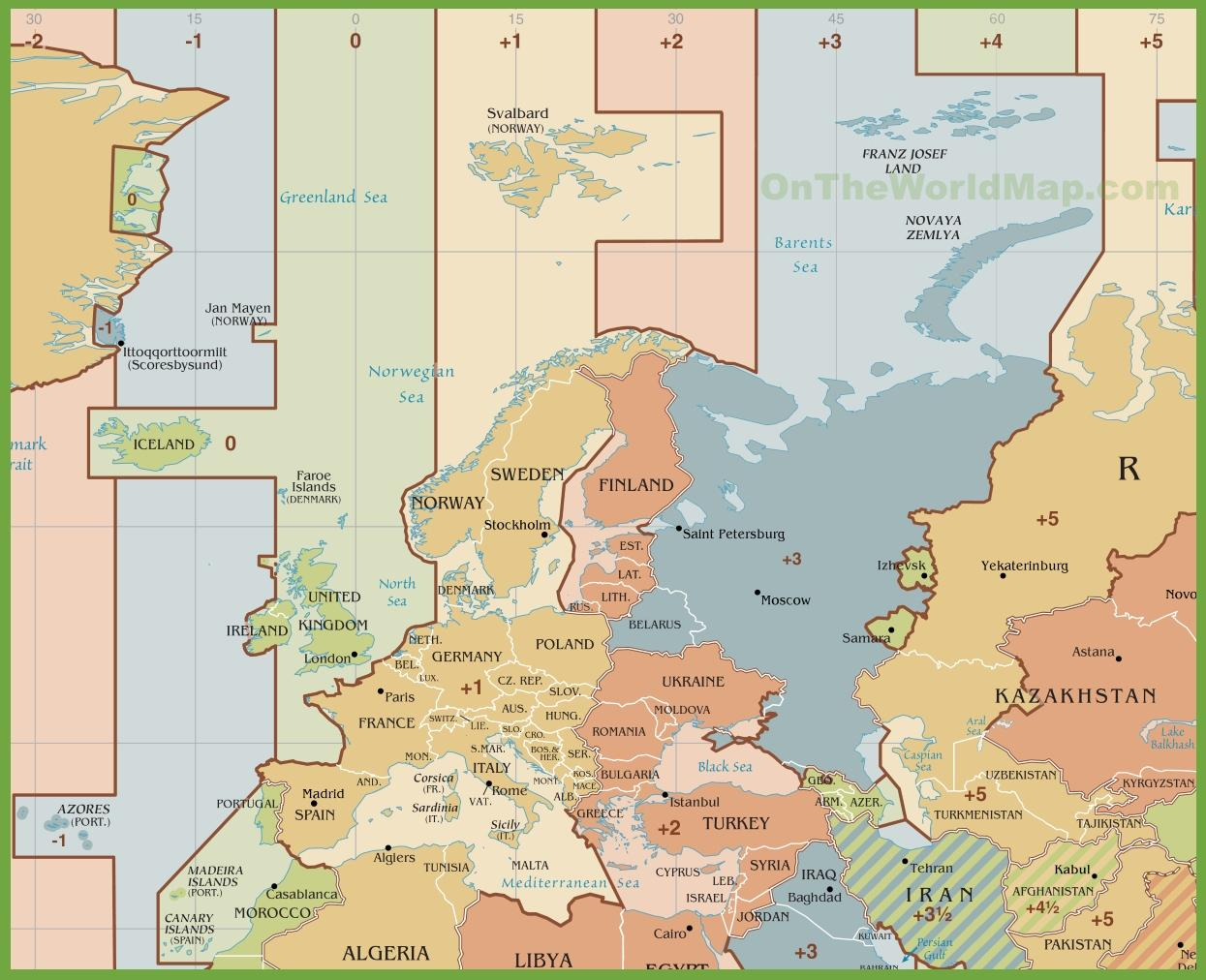 időzóna térkép Spanyolország időzóna térkép   Térkép Spanyolország időzóna (Dél