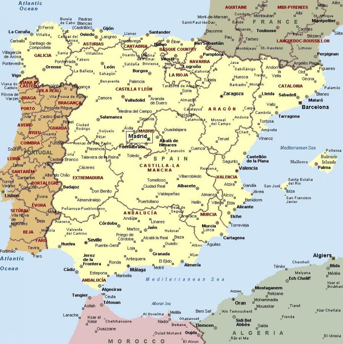 Terkep Spanyol Varosok Terkep Spanyol Varosok Del Europaban